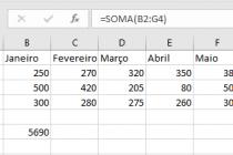 Microsoft Excel – Função Soma