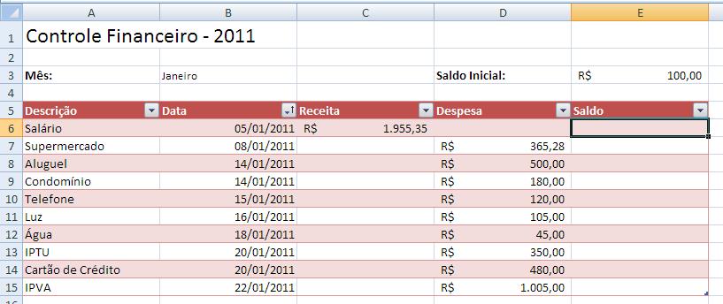 Controle Financeiro 5