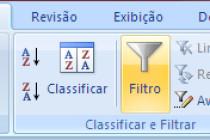 Microsoft Excel – Os novos recursos no filtro do Excel 2007/2010