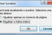 Microsoft Word – Criando um Sumario (Indice Analitico)