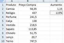 Microsoft Excel – Fazendo operações com células copiadas