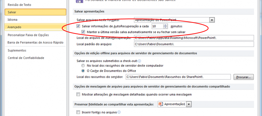Microsoft Office 2010-2013 – Recuperando documentos não salvos