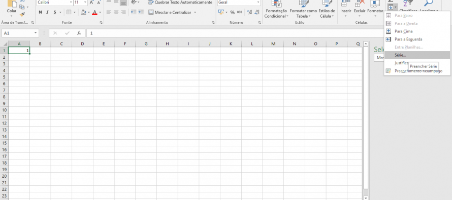 Microsoft Excel – Sequências