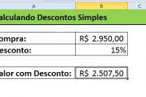Microsoft Excel – Calculando Juros e Descontos Simples