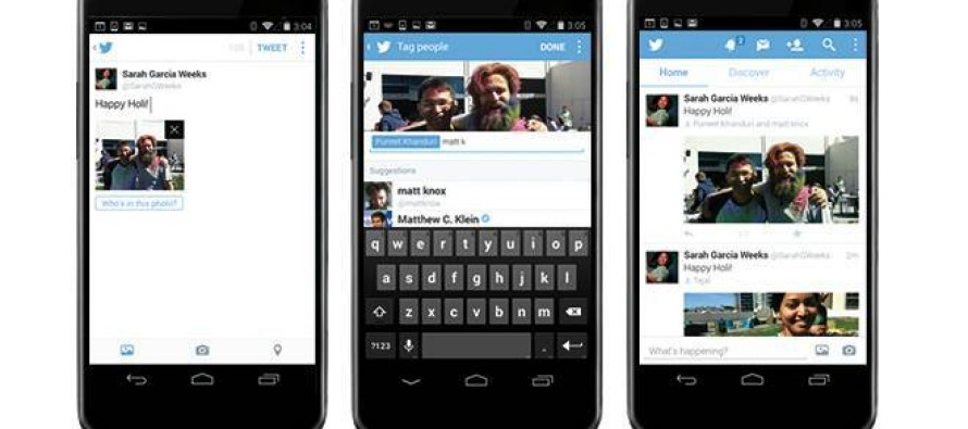 Twitter libera marcação de usuários em fotos publicadas na rede