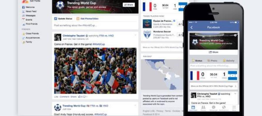 Ferramenta do Facebook permite acompanhar a Copa do Mundo pela rede social