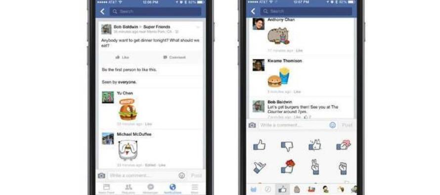 Facebook começa a liberar figurinhas em comentários