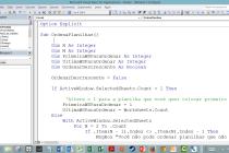 Microsoft Excel VBA – Ordenar planilhas alfabeticamente