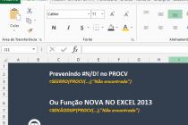 Microsoft Excel – Tratamento de Erros no Excel – SEERRO e SENÃODISP