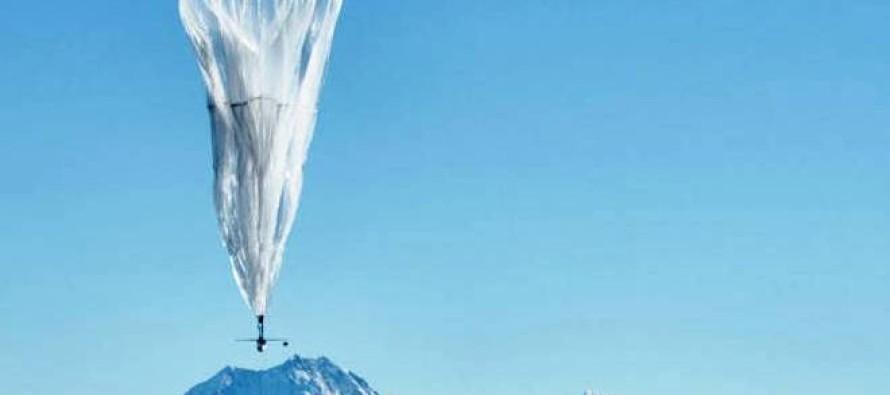 Balões de internet do Google entram em ação