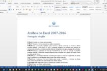 Atalhos do Excel 2007-2016